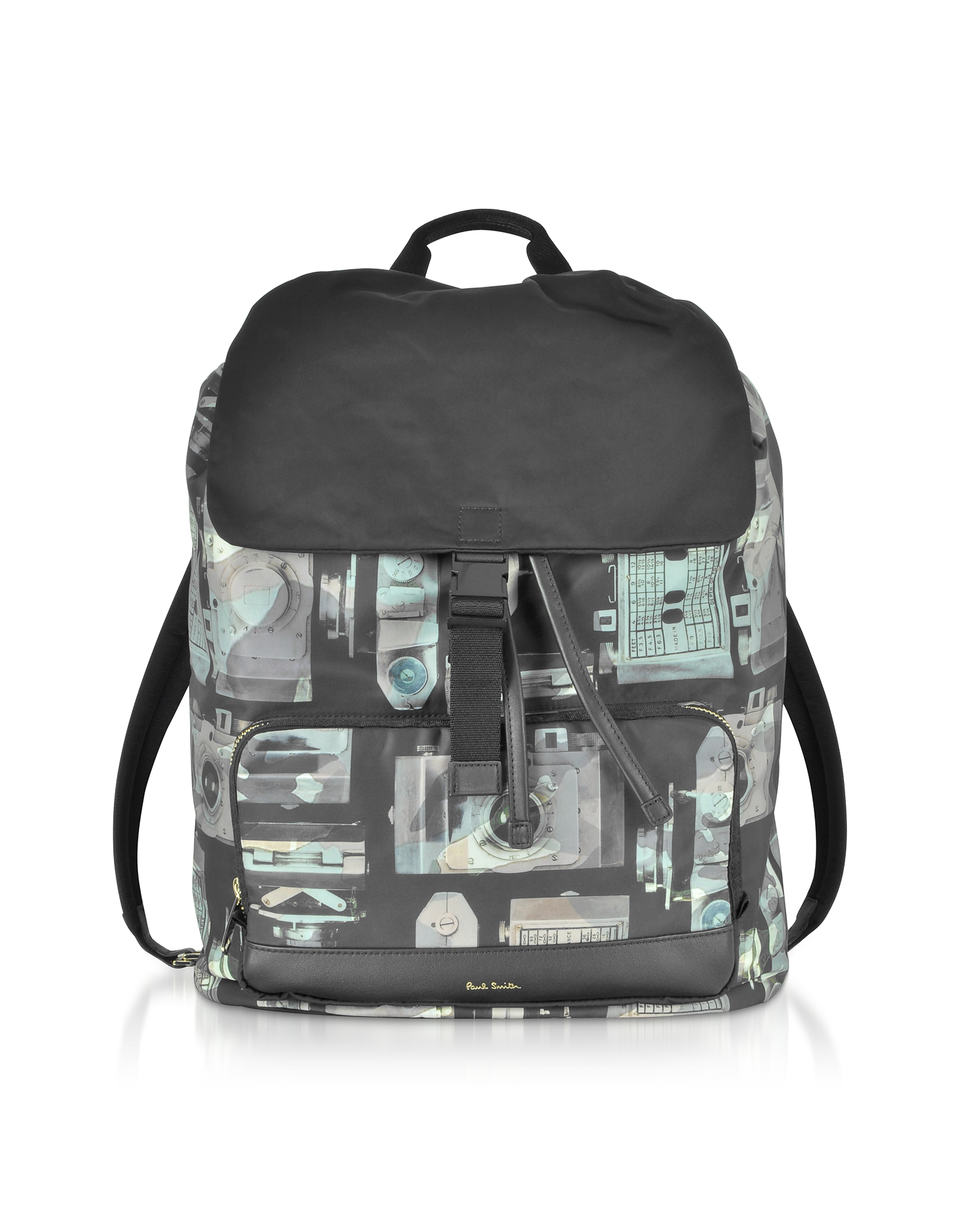 Camouflage Paul's Camera Print Flap Men's Backpack