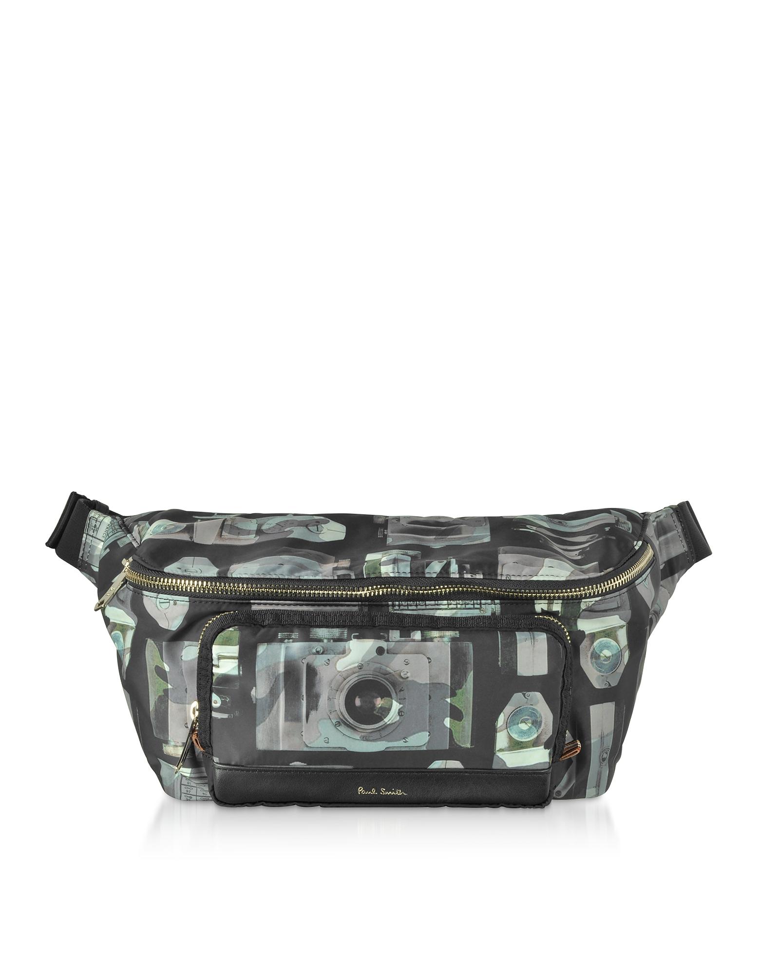 Paul's Camera Printed Canvas Men's Belt Bag