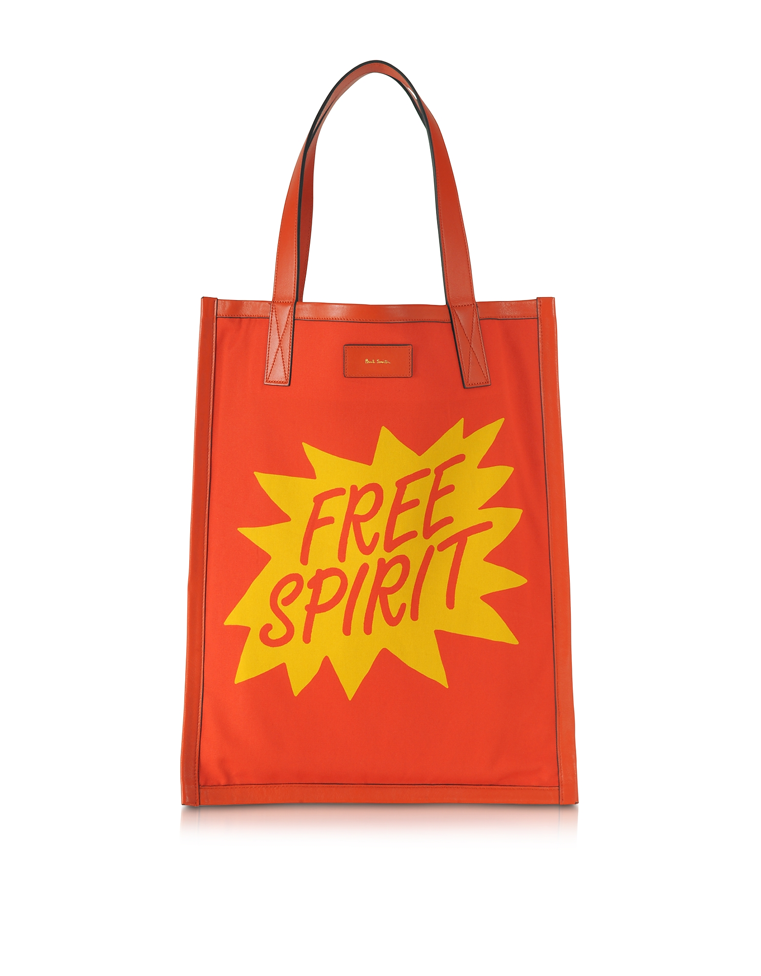 Paul Smith Men's Bags, Men's Orange and Yellow Free Spirit Print Tote Bag