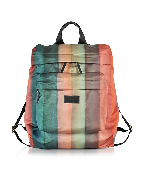 Foto Paul Smith Zaino in Nylon a Righe Arcobaleno Zaini