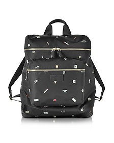 Men's Cufflink Print Nylon Rucksack - Paul Smith