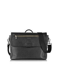 Black Grainy Leather Men's Messenger Bag - Paul Smith