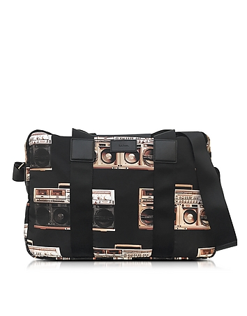 Ghetto Blaster Print Nylon Simple Folio