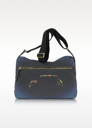 Mini Silhouette Print Canvas Messenger - Paul Smith