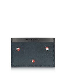Black Leather Dice Print Men's Card Holder  - Paul Smith