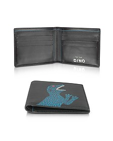 Black Dino Print Leather Men's Wallet - Paul Smith