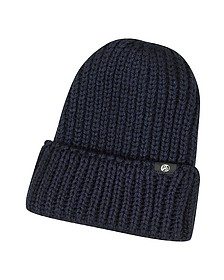 British Wool Beanie-Mütze mit Logo - Paul Smith