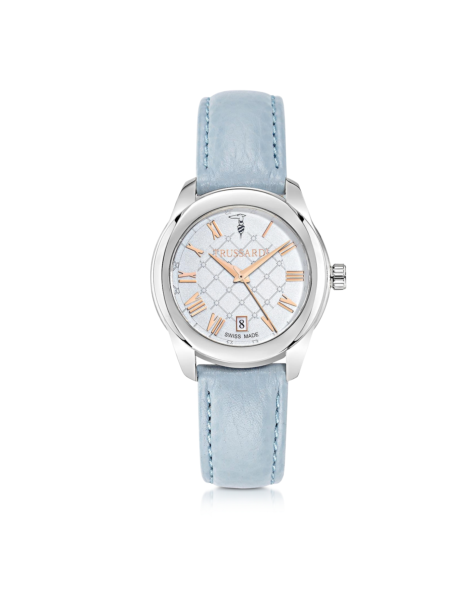 Trussardi  Women's Watches T01 Lady Stainless Steel and Blue Leather Women's Watch