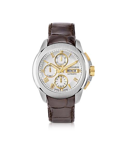 Foto Trussardi T01 Gent orologio da Uomo in Acciaio e Pelle Cocco Orologi Uomo