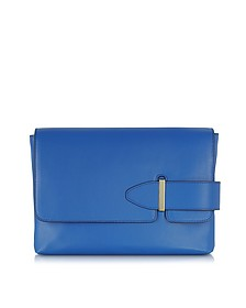 Lee Cobalt Leather Clutch - Tila March