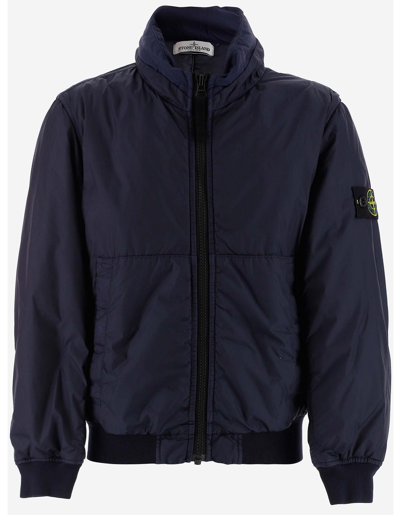 Stone Island Designer Boy's Clothing, Blue Boy's Padded Jacket