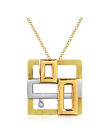 Torrini - Cubisme Diamond 18K Gold Pendant Necklace