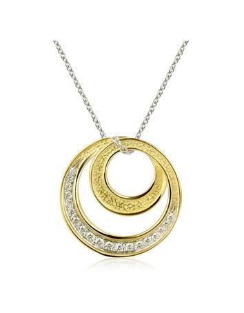 Torrini Infinity 18K Yellow Gold Diamond Pendant Necklace
