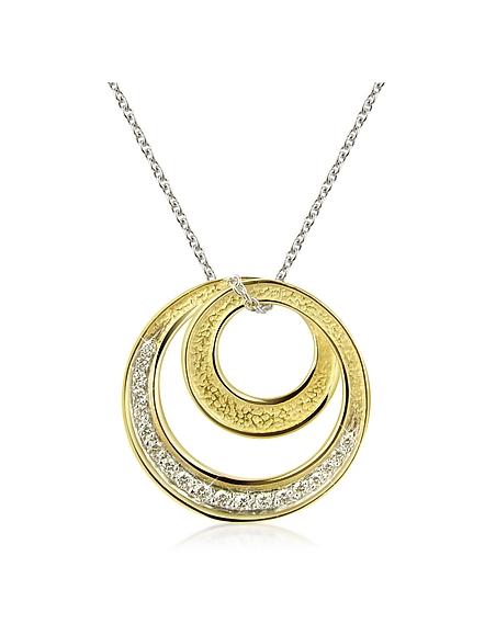 Torrini Infinity - Collier en or jaune 750/1000 serti de diamants