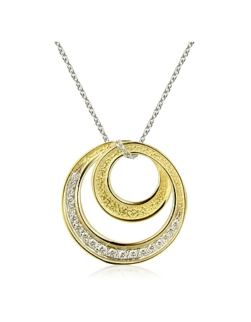 Torrini - Infinity 18K Yellow Gold Diamond Pendant Necklace