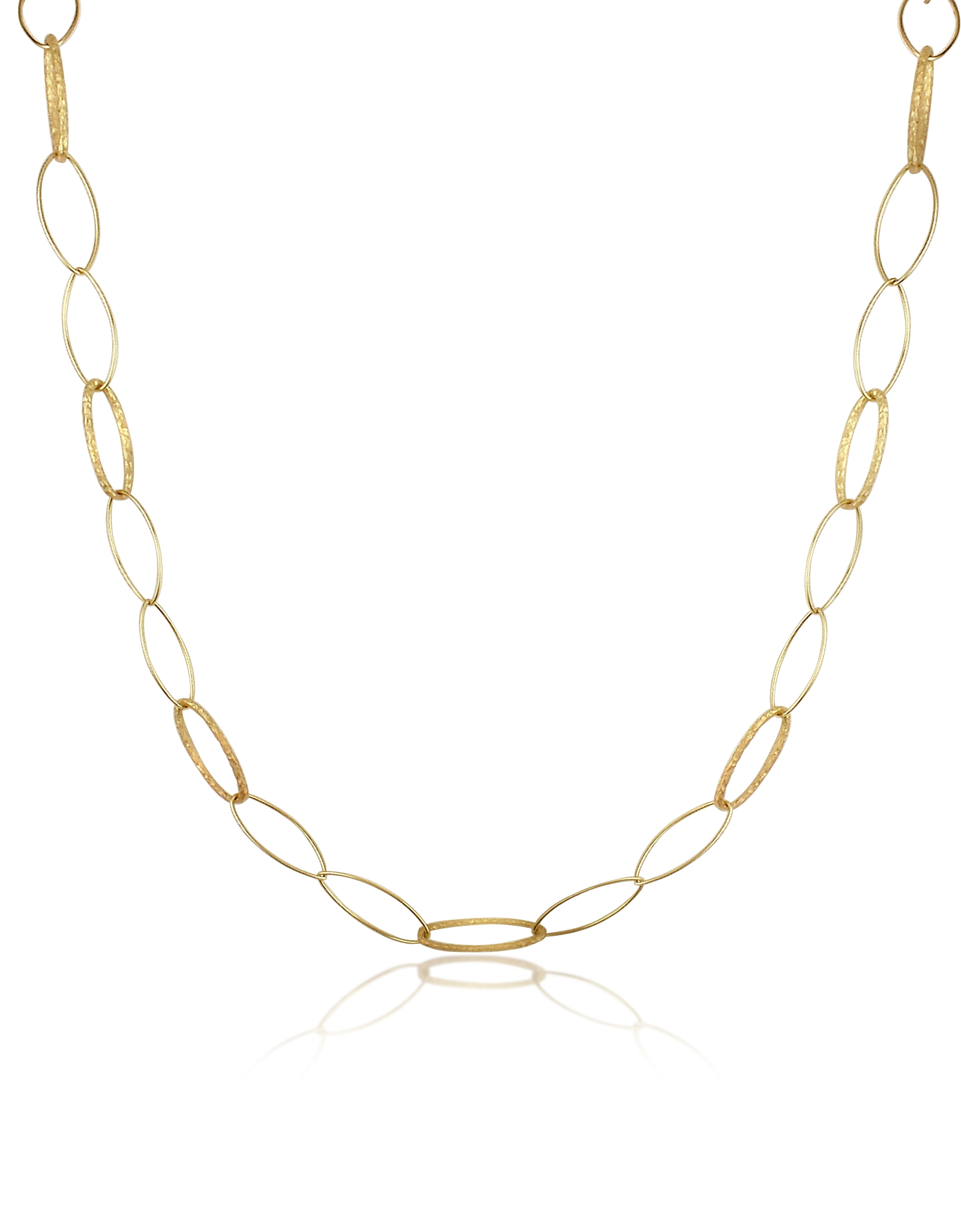 Torrini Necklaces, Marina - 18K Yellow Gold Oval Link Necklace