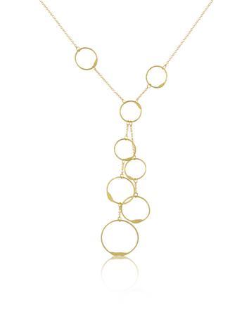 Torrini Milly - 18K Yellow Gold Circles Drop Necklace