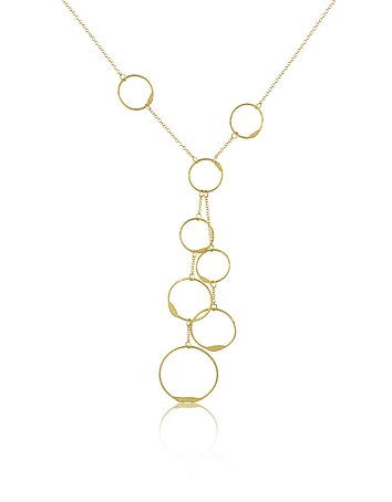 Torrini - Milly - 18K Yellow Gold Circles Drop Necklace
