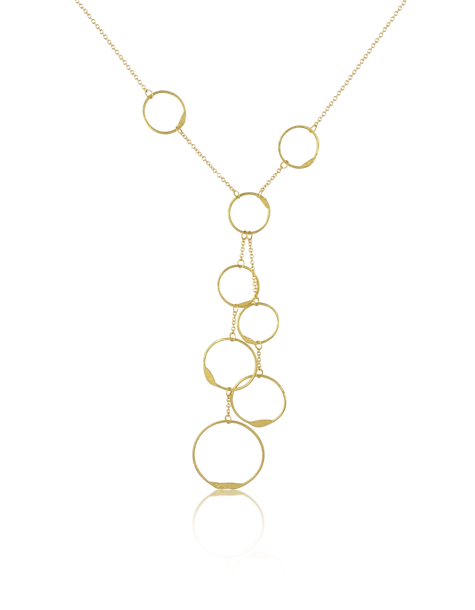 Torrini Necklaces, Milly - 18K Yellow Gold Circles Drop Necklace
