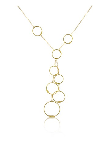 Torrini Milly - 18K Yellow Gold Circles Drop Necklace :  necklace gold necklace jewellry italian jewelry