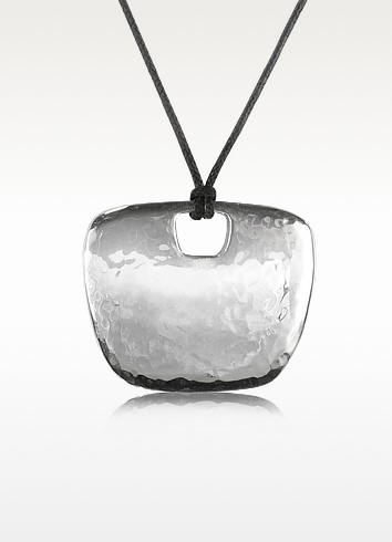 Sterling Silver Pendant w/Lace - Torrini