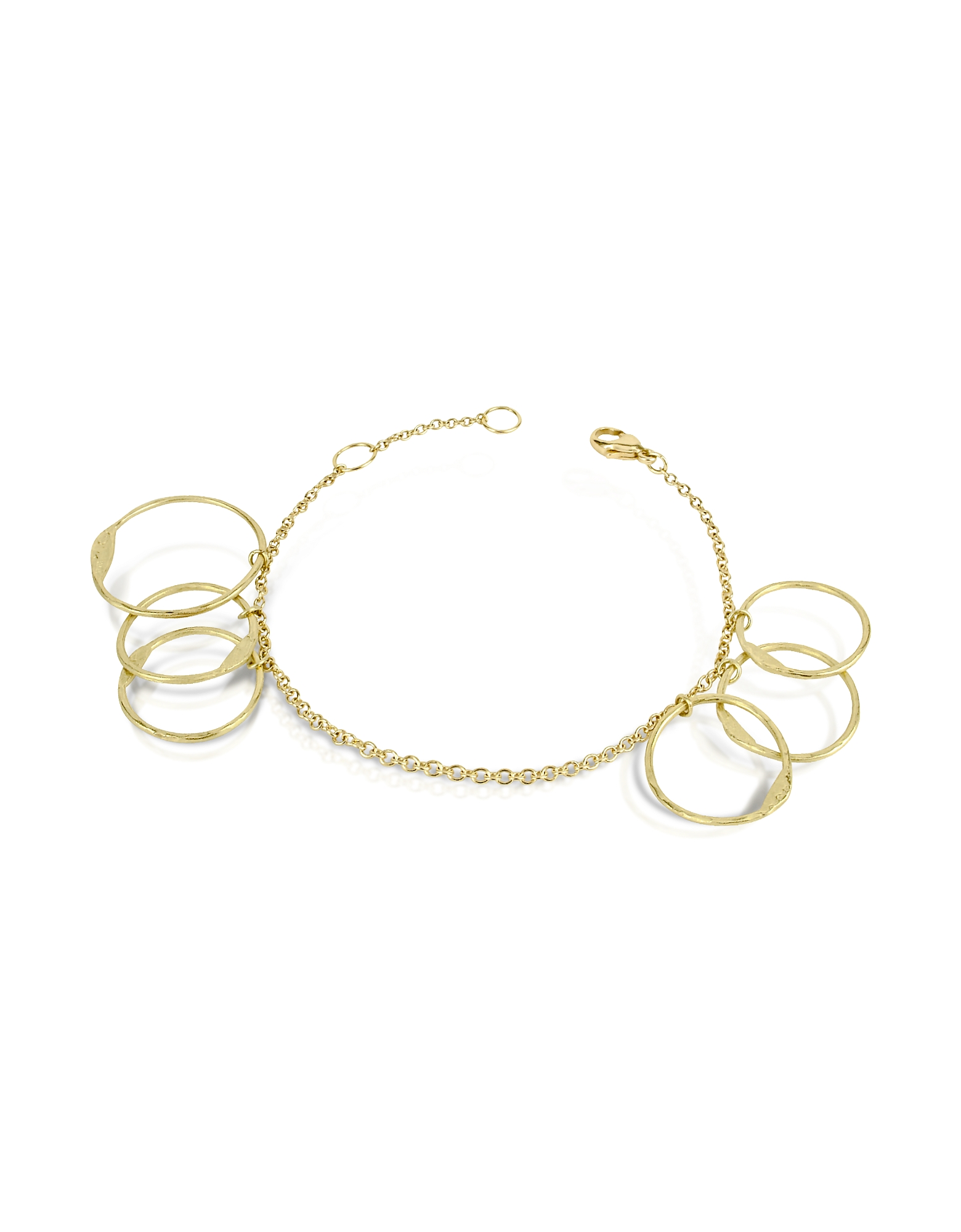 Torrini Bracelets, Milly - 18K Yellow Gold Circles Chain Bracelet