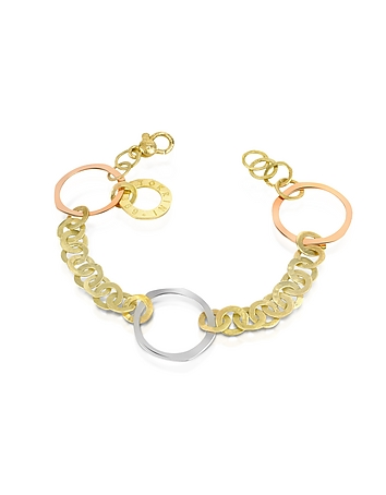 Torrini - Fiesole - Three-tone 18K Gold Circles Chain Bracelet