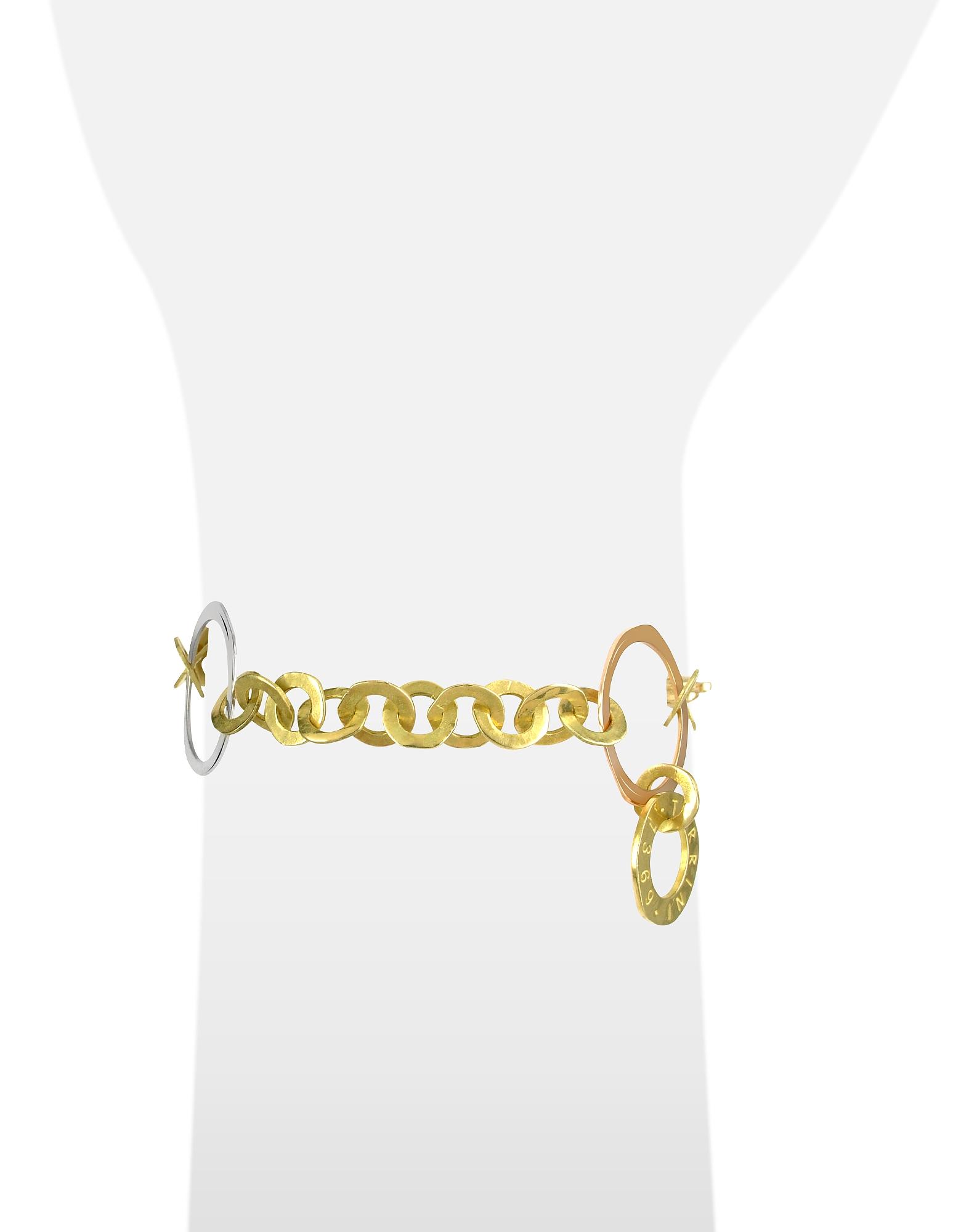 Фото Fiesole -  Браслет из Золота 18 карат Трех Цветов с Кольцами. Купить с доставкой