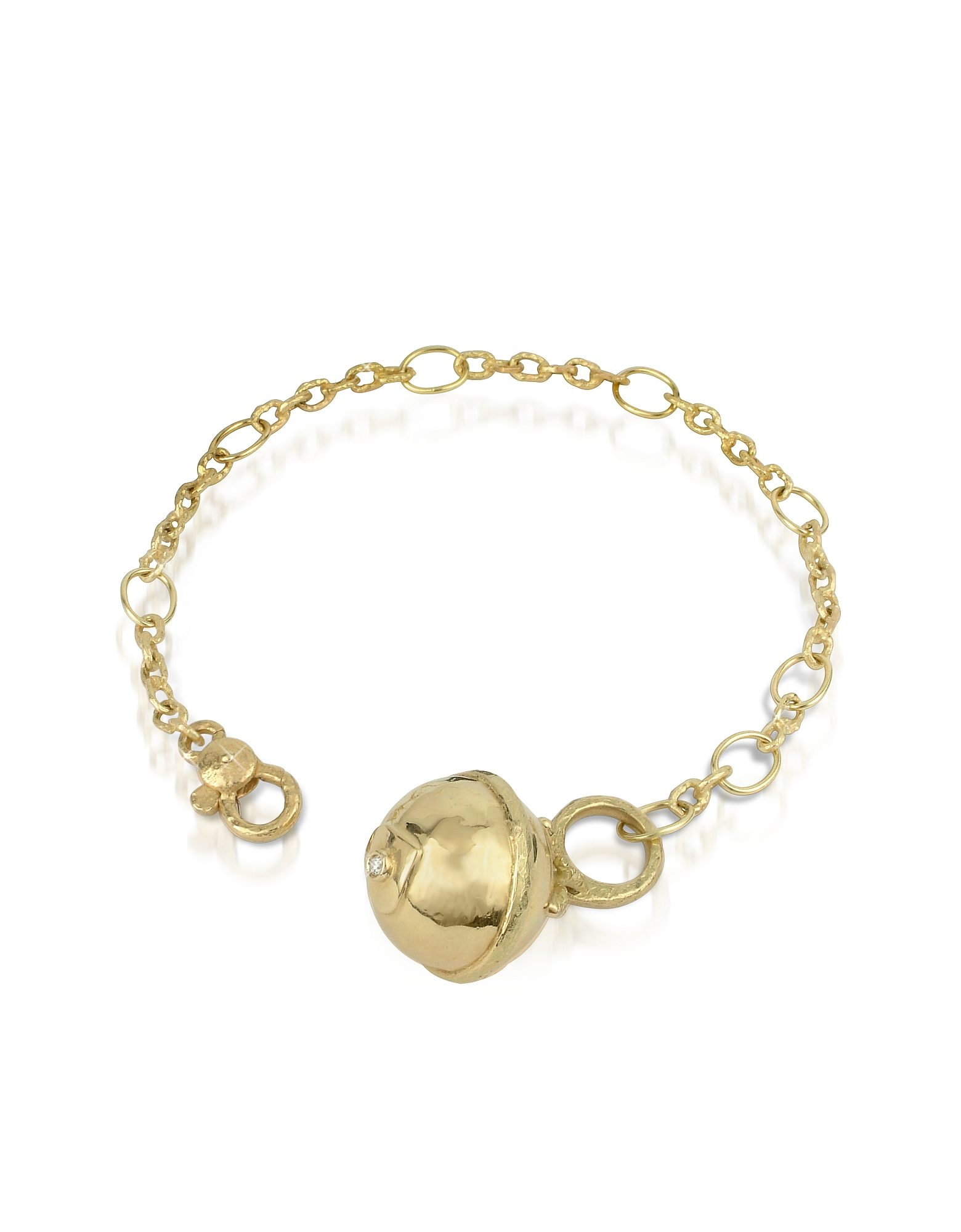 Torrini Bracelets, Ball - 18K Gold and Diamond Charm Bracelet