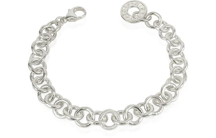 Coin 1369 - Sterling Silver Rolo Chain Charm Bracelet - Torrini