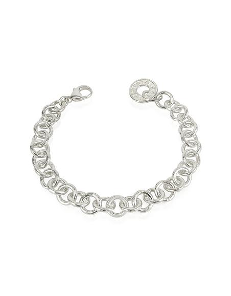 Torrini Coin 1369 - Bracelet à mailles rondes en argent fin