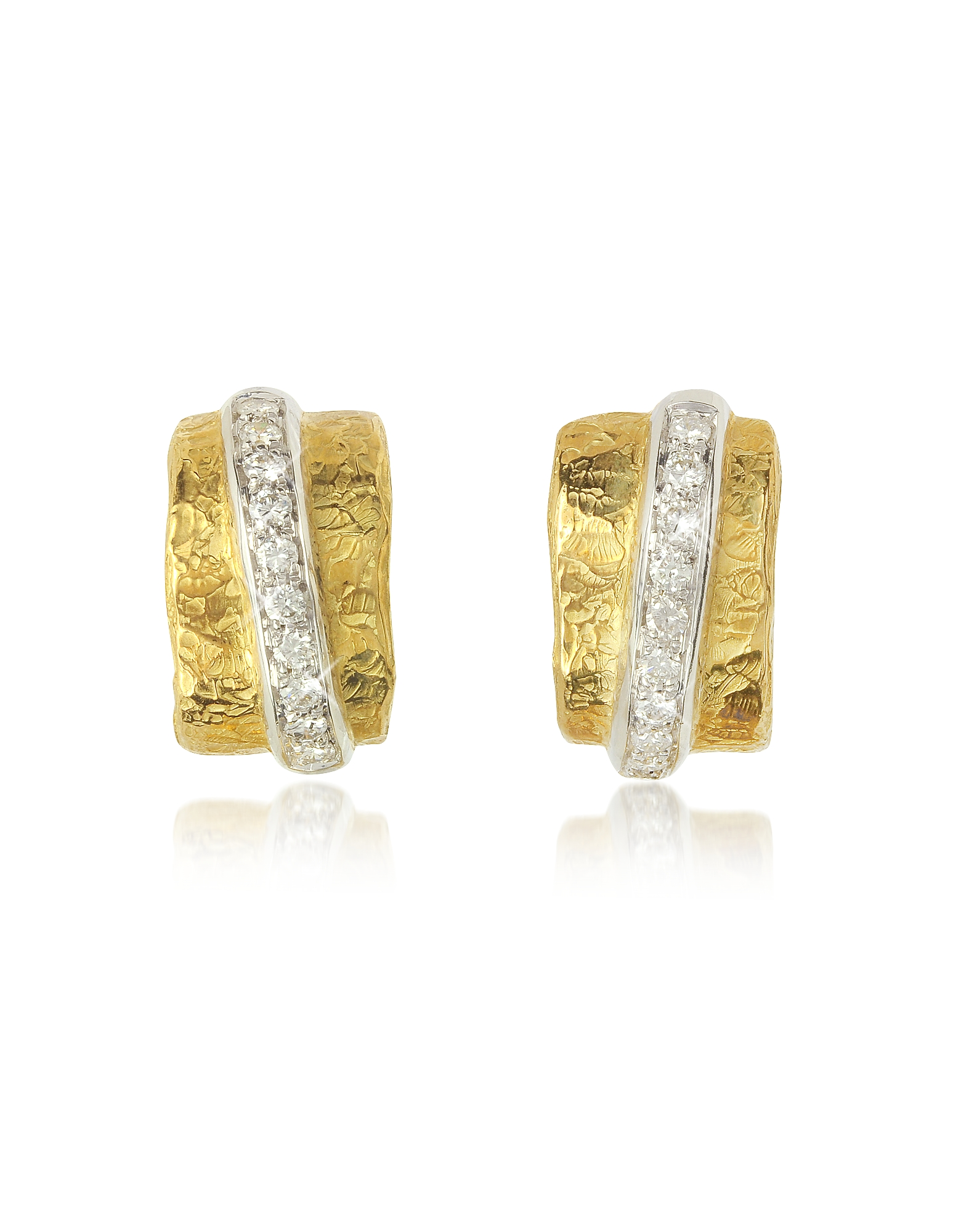 Torrini Earrings, Nancy - 18K Yellow Gold and Diamond Earrings