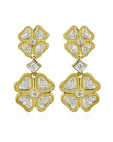 Quadrifoglio Diamond Four-Leaf Clover 18K Gold Earrings - Torrini