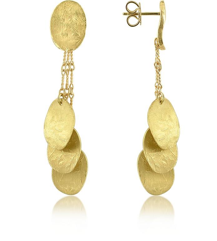 Nuvole Moving - 18K Gold Drop Earrings - Torrini