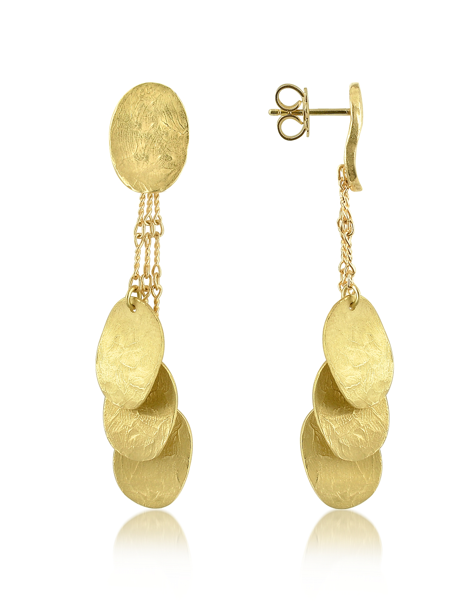 Torrini Earrings, Nuvole Moving - 18K Gold Drop Earrings