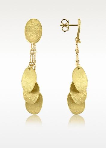 Nuvole Moving - 18K Gold Drop Earrings - Torrini