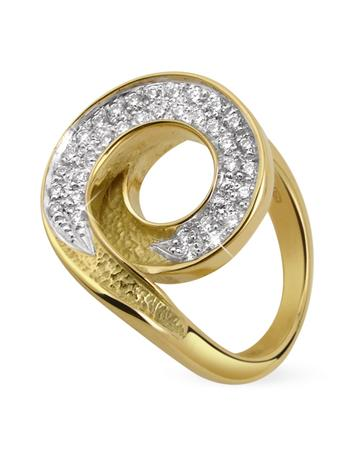 Infinity 18K Yellow Gold Diamond Ring