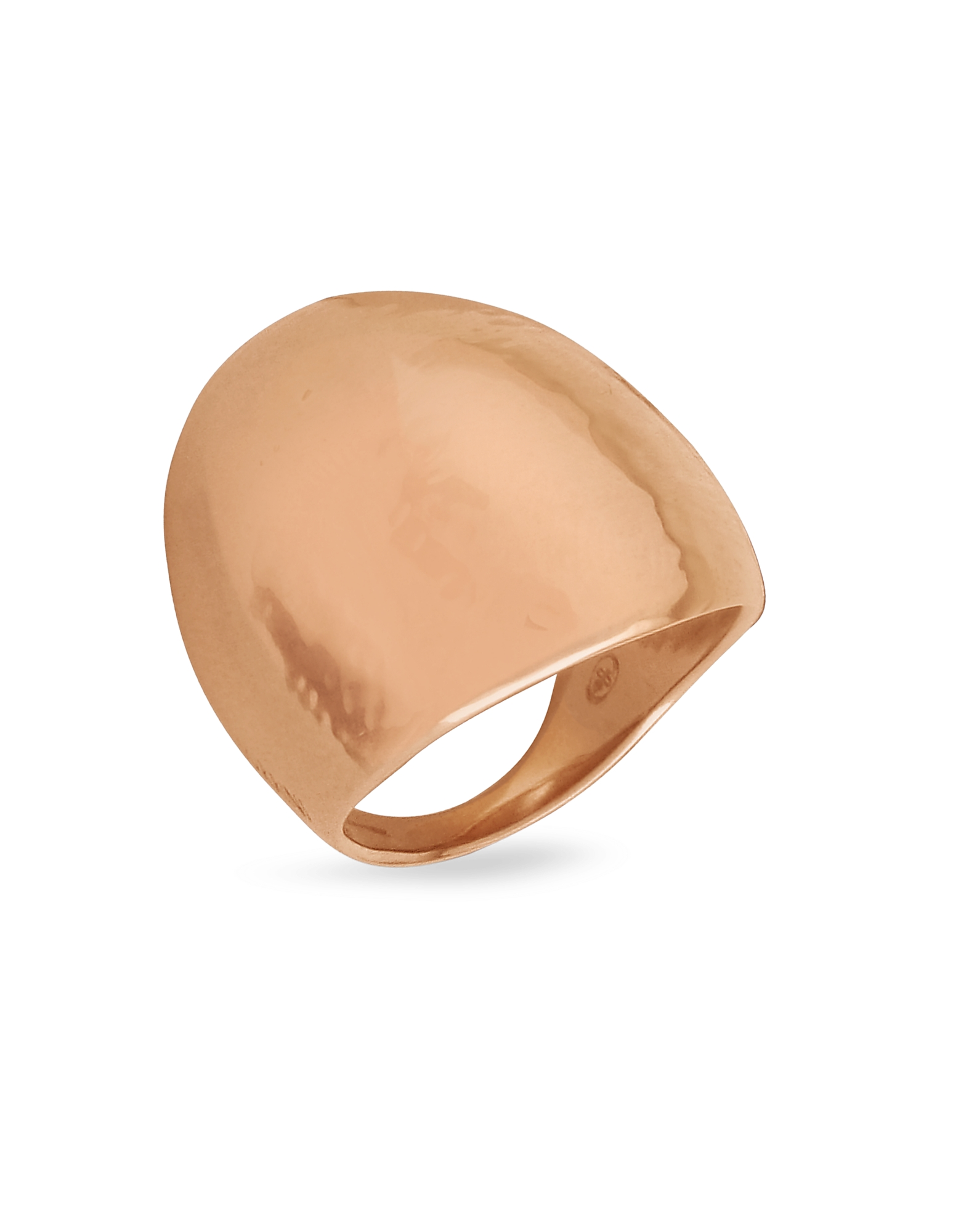 Torrini Rings, Elena - Chiseled 18K Rose Gold Shield Ring