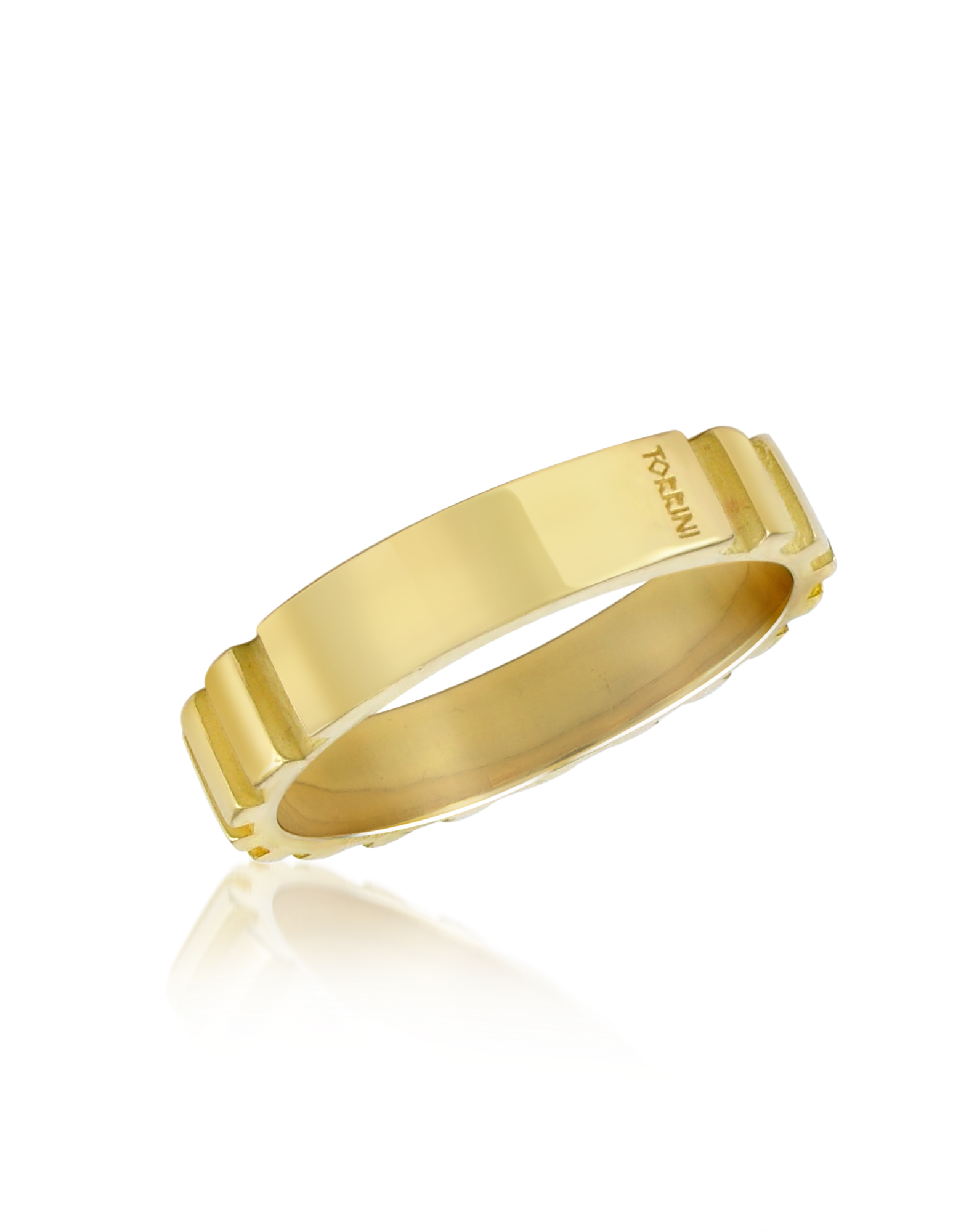Image of Stripes - 18k Yellow Gold Band Ring