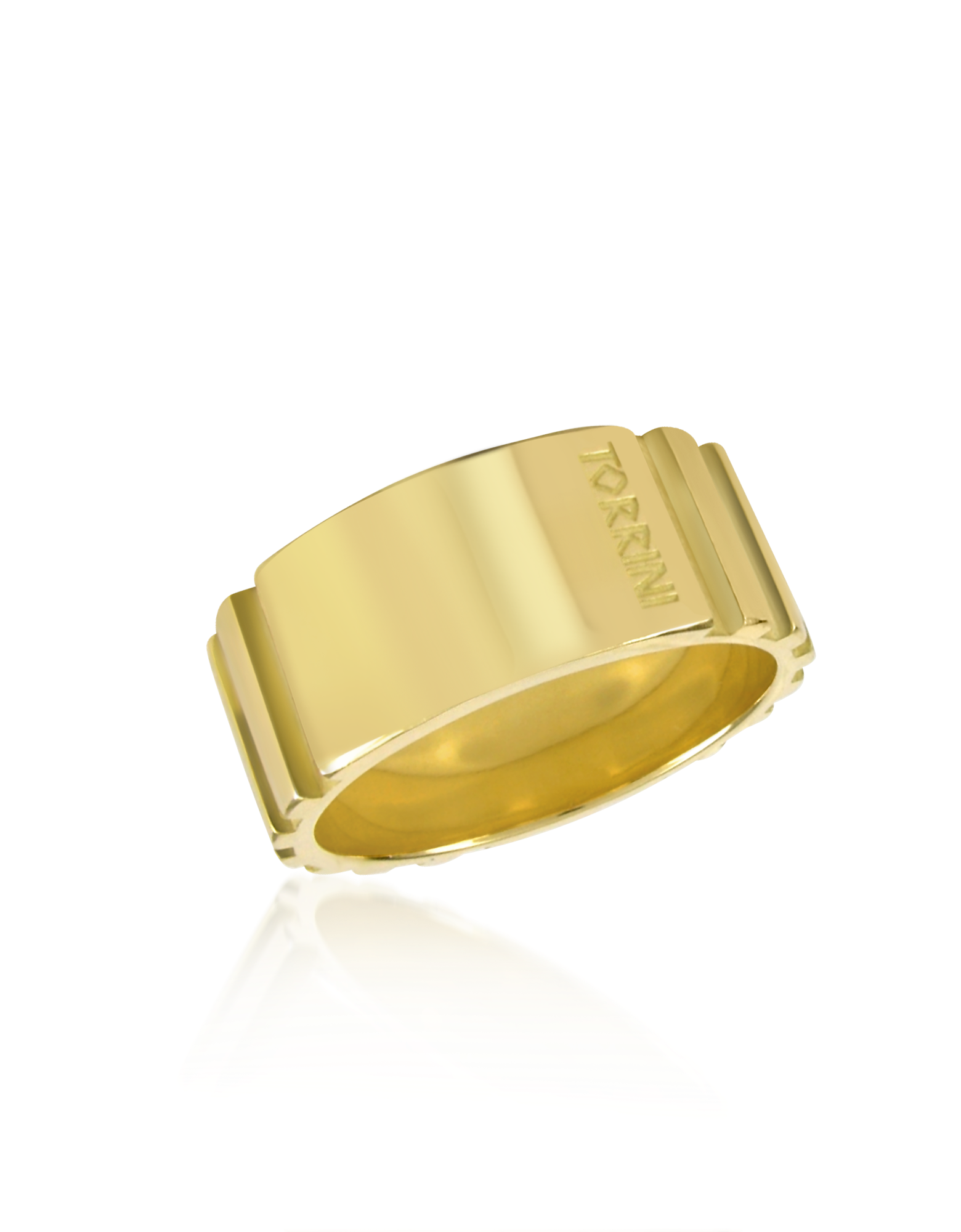 Image of Stripes - 18k Yellow Gold Tall Band Ring