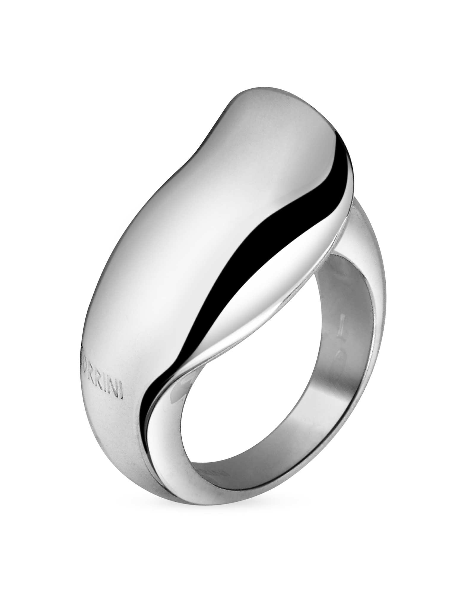 Torrini Rings, Curved Sterling Silver Ring