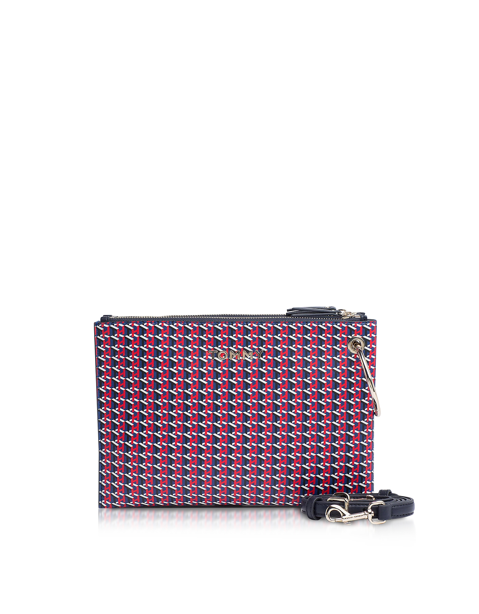 Tommy Hilfiger Designer Handbags, Bifold Monogram Item Statement Clutch