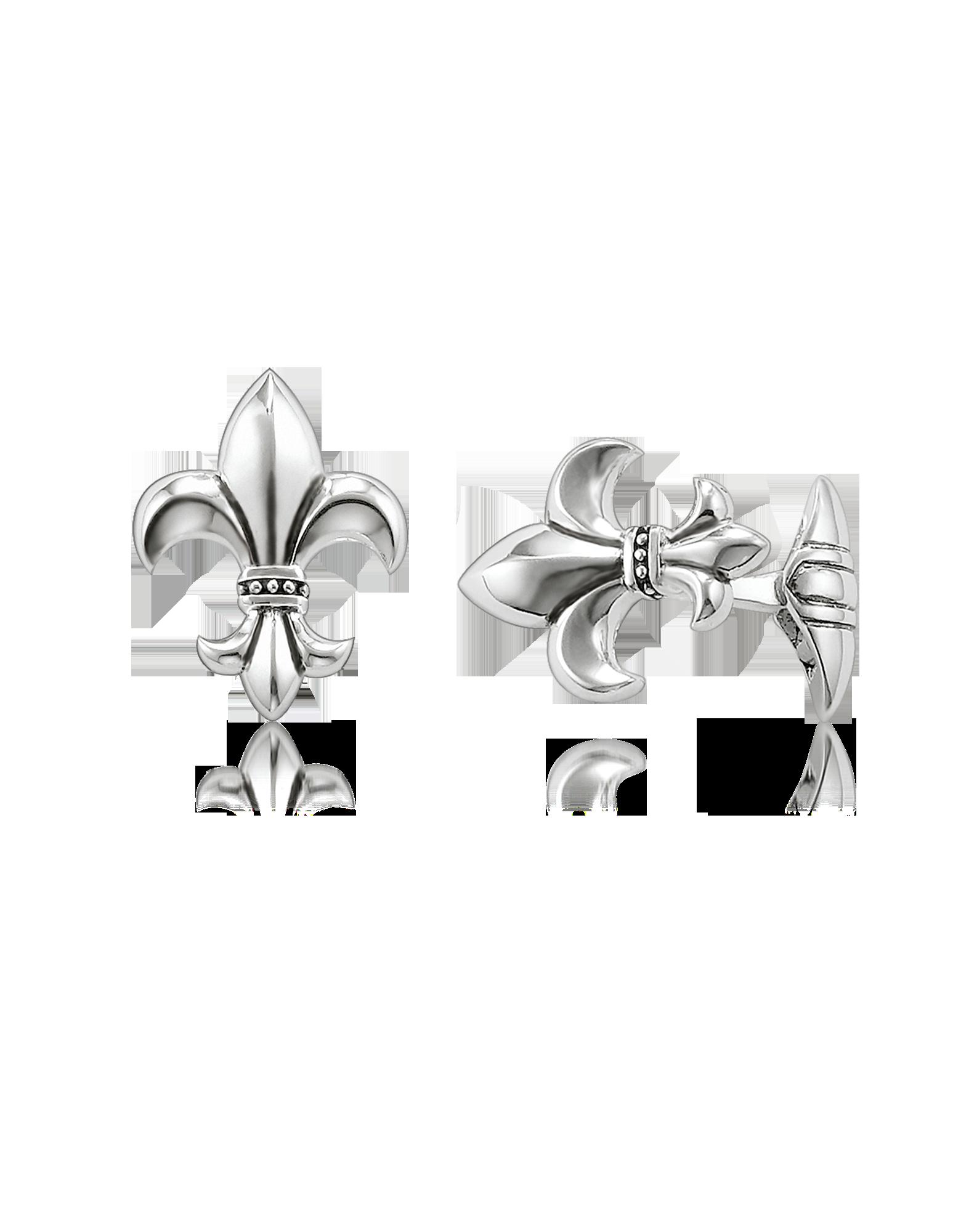 Image of Blackened Sterling silver Fleur-de-lis Cufflinks