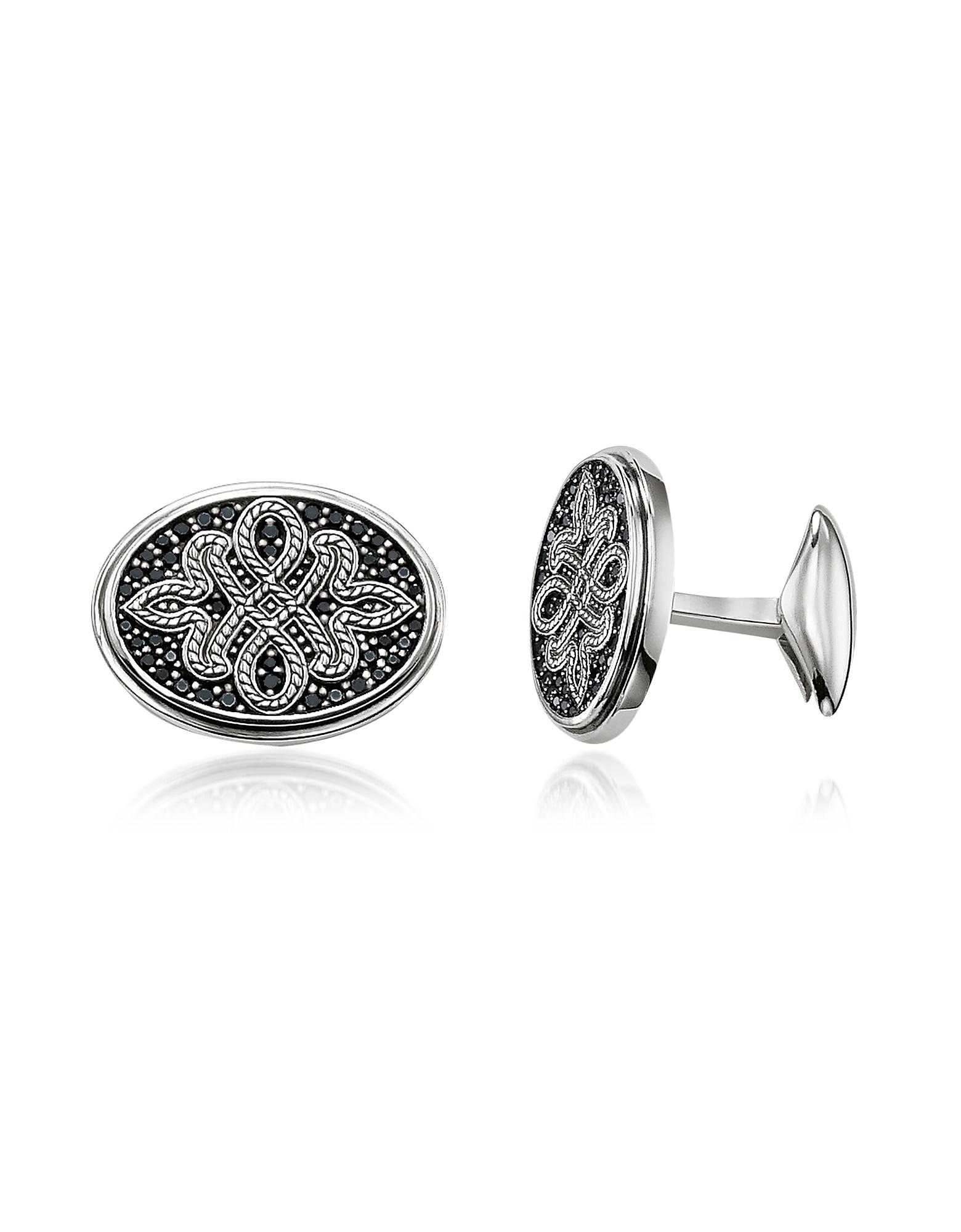 Blackened Sterling silver Love Knot Cufflinks