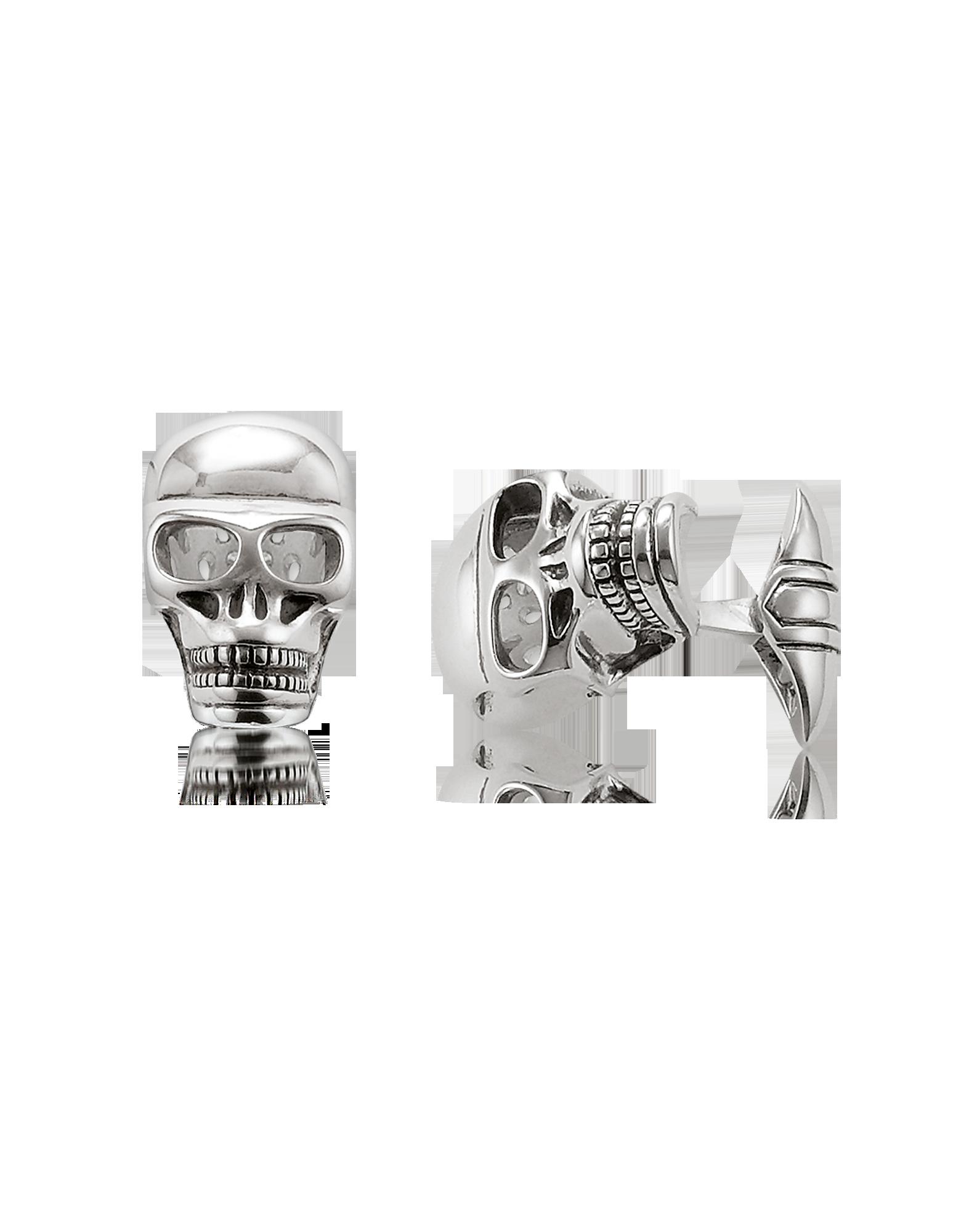 Image of Blackened 925 Sterling silver Skull Cufflinks