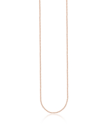 Rose Gold Plated Sterling Silver Venezia Chain Necklace