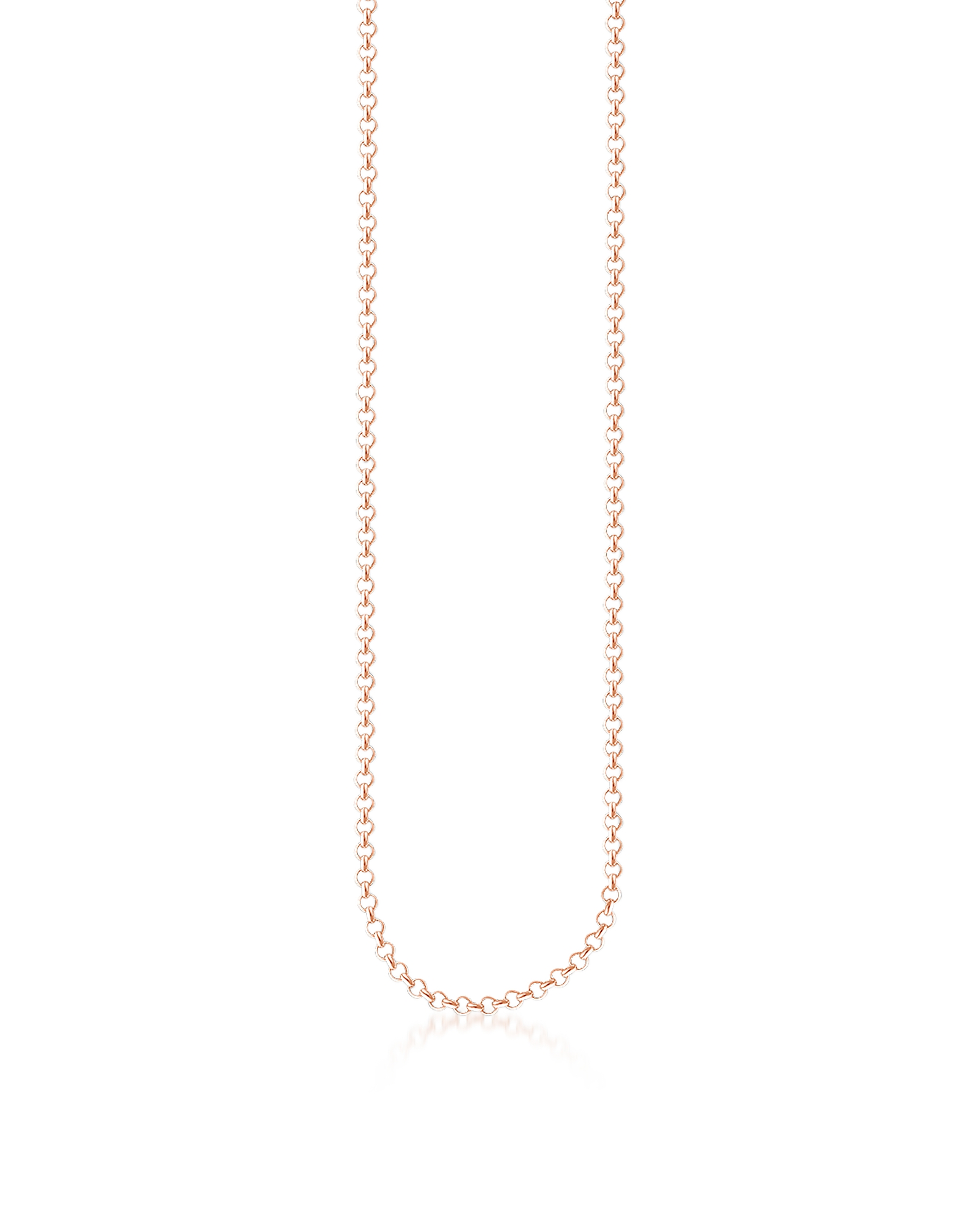 Thomas Sabo Necklaces, Rose Gold Plated Sterling Silver Round Belcher Chain Necklace