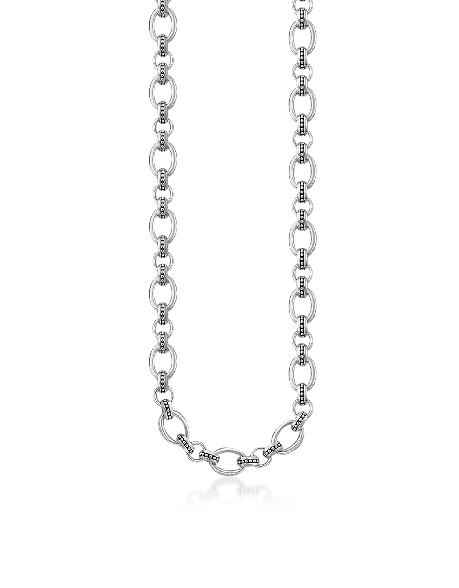 Image of Blackened Sterling Silver Rivet Look Necklace