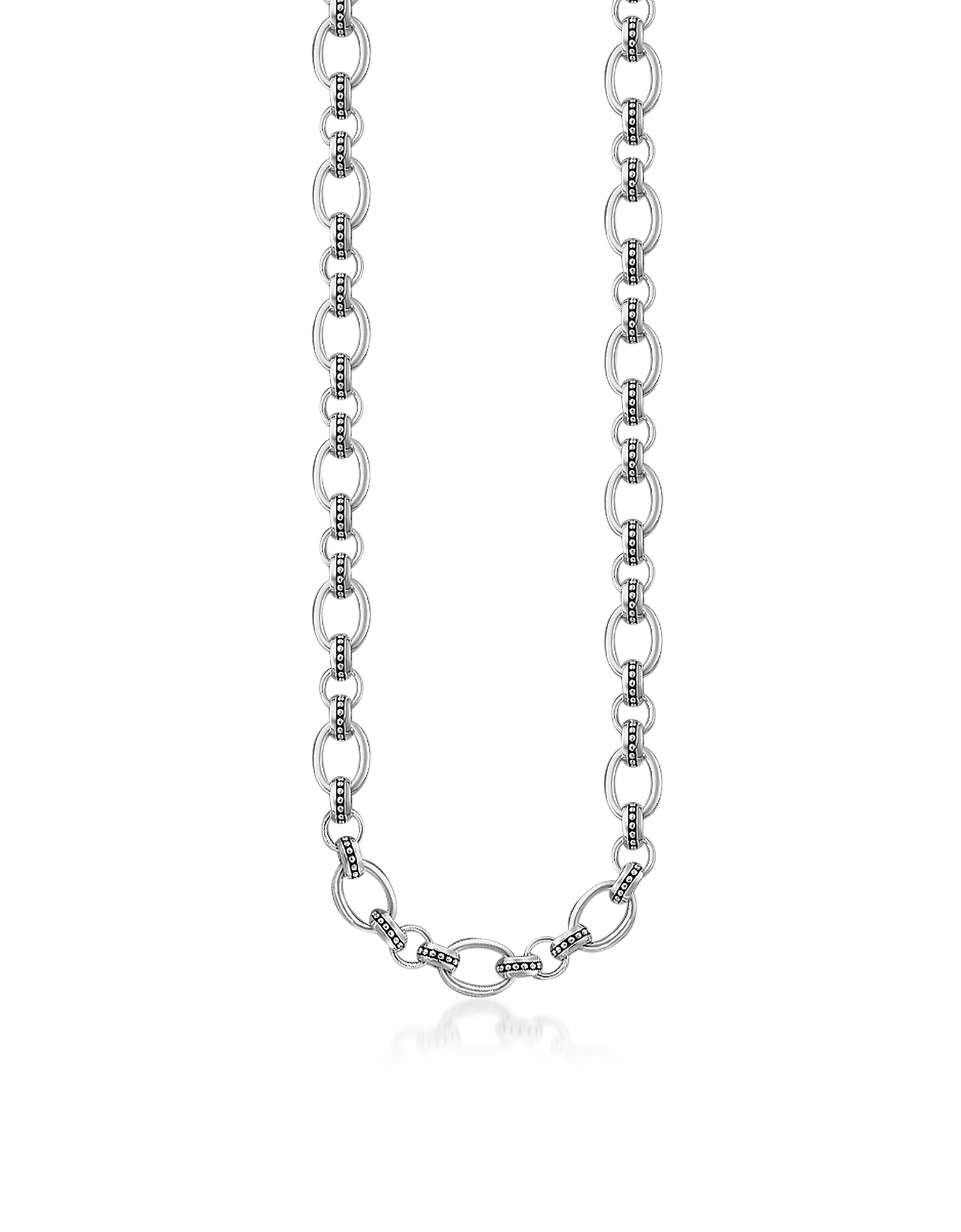Blackened Sterling Silver Rivet Look Necklace