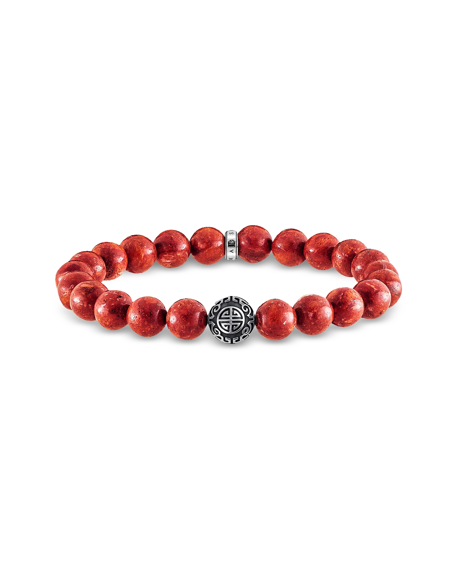Thomas Sabo Bracelets, Ethnic Red Sterling Silver and Coral Beads Bracelet